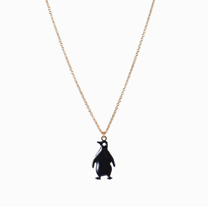titlee penguin charm necklace