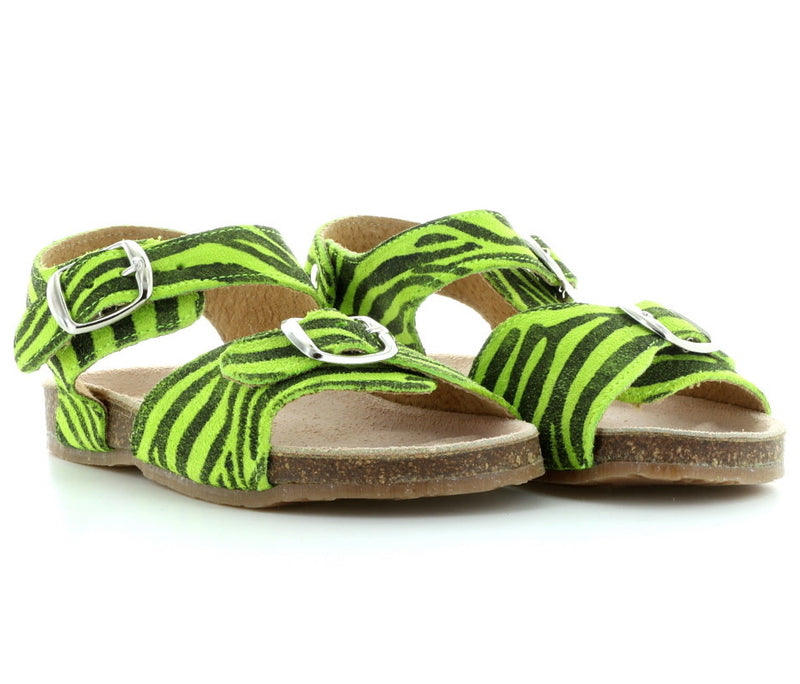 yoya, kids, girls, pepe, summer, lightweight, leather, calf hair, buckle, sandal