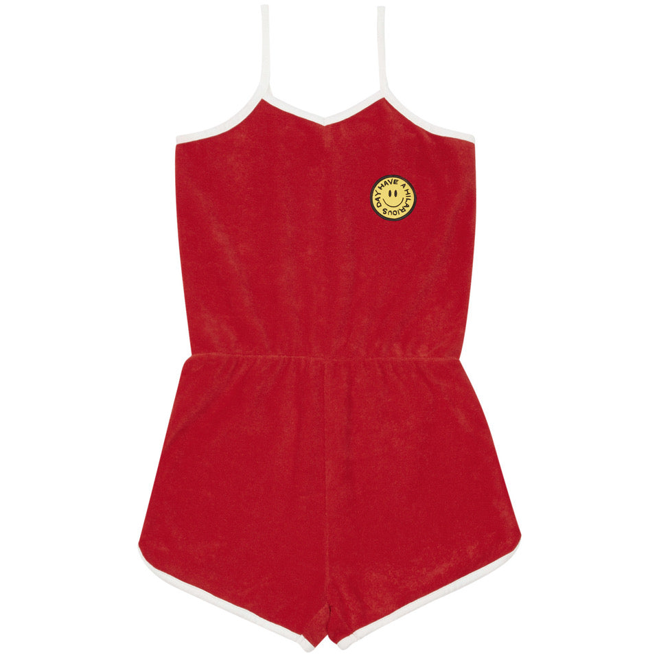 yoya, kids, girls, hundred pieces, summer, casual, terry cloth, cover up, graphic, appliqué, romper, one piece, jumpsuit