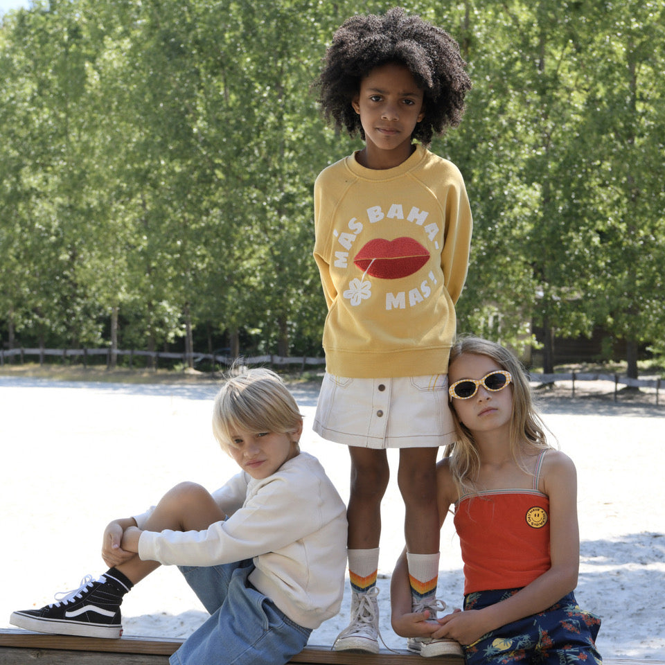 yoya, kids, girls, hundred pieces, casual, summer, terry cloth, graphic, appliqué, cropped, tank top