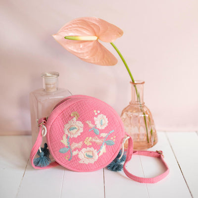 yoya, kids, girls, louise misha, casual, summer, quilted, floral embroidered, shoulder bag, purse, accessories