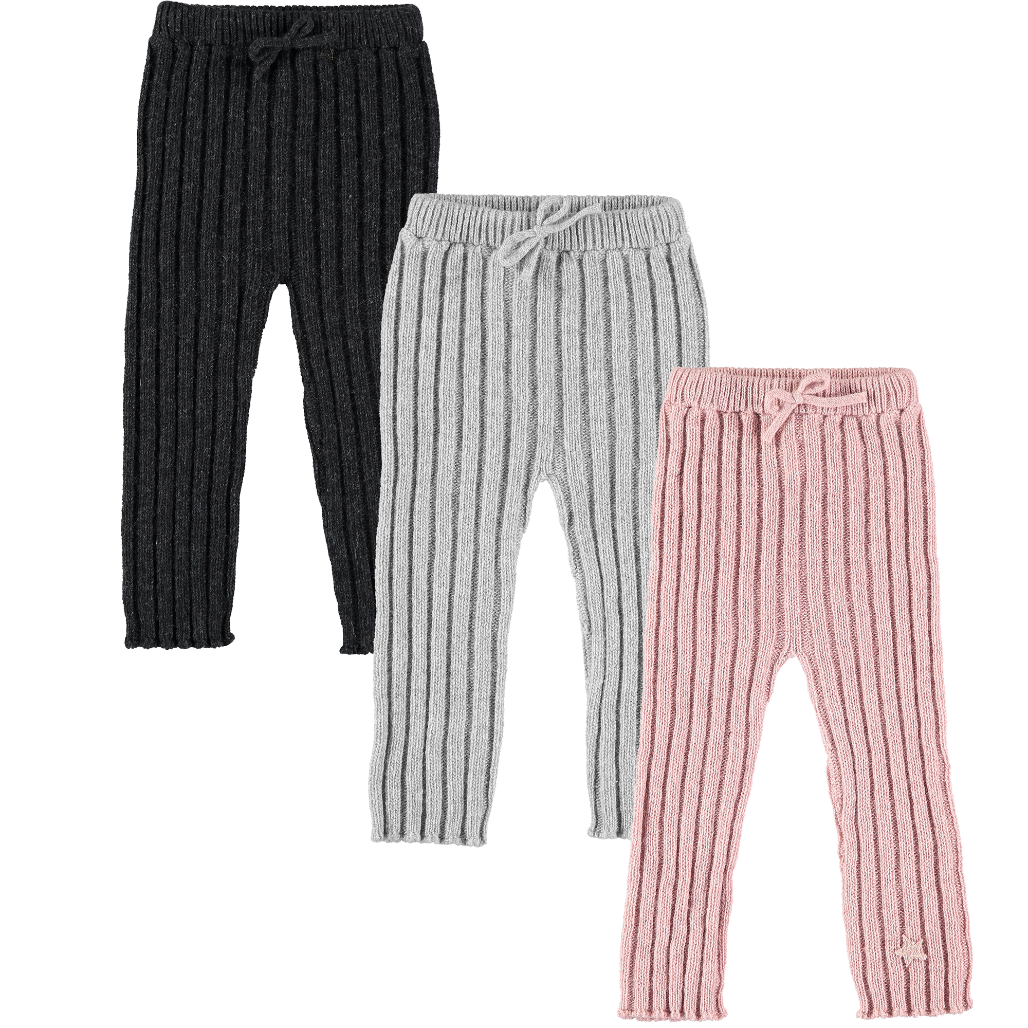 tocoto vintage knitted baby leggings