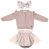 tocoto vintage cardigan skirt collar baby set