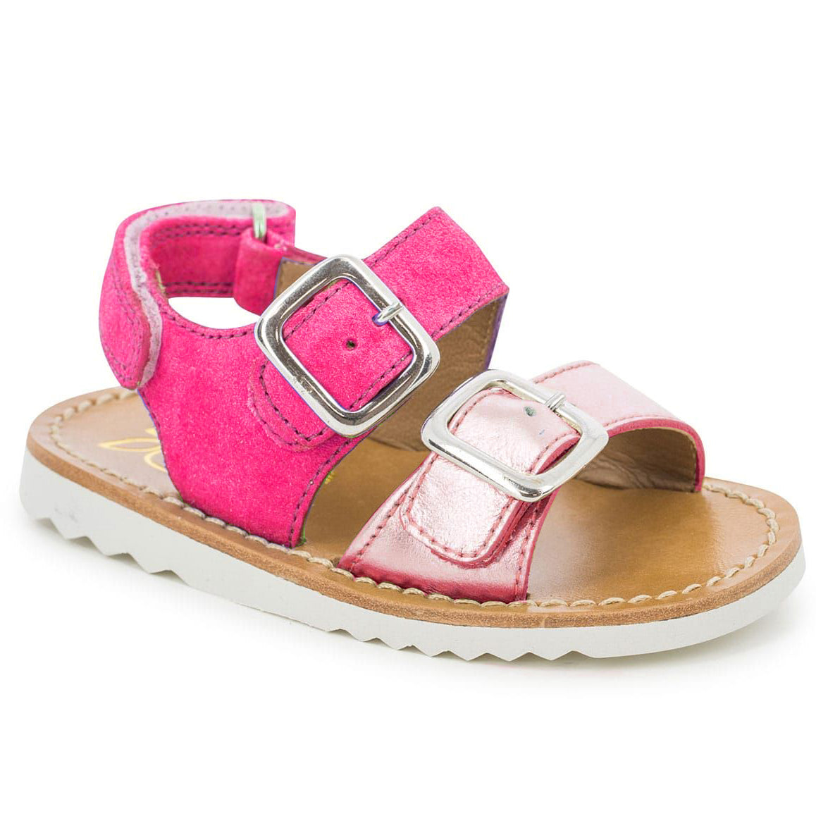 yoya kids pom d'api waff sandals buckles velcro strap summer casual shoes