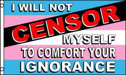 Transgender Censor Pride Flag