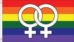 Double Female Symbol Pride Flag