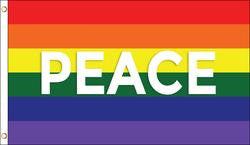 Rainbow Peace Pride Flag