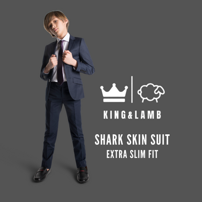 Boys King and Lamb Navy Sharkskin Washable Suit/Jacket/Pants
