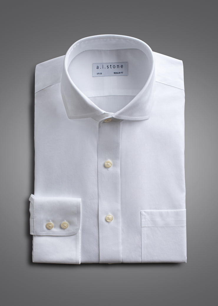 Mens Twill Cutaway Collar Classic Fit with Pockets