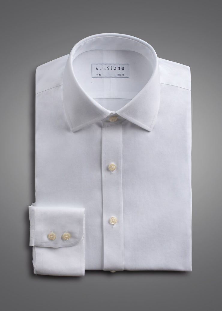 Mens Soft Twill Spread Collar Super Slim Fit