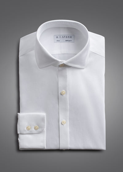 Mens Soft Twill Cutaway Collar Slim Fit