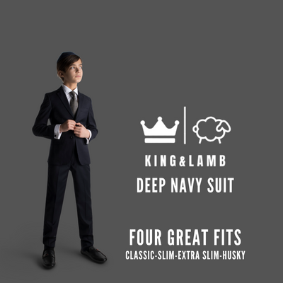 King and Lamb Boys Easycare Navy Suit/Jacket/Pants