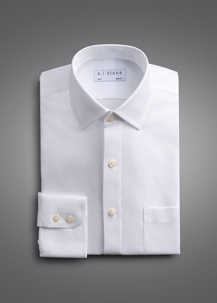Mens Soft Twill Spread Collar Slim Fit With a Pocket