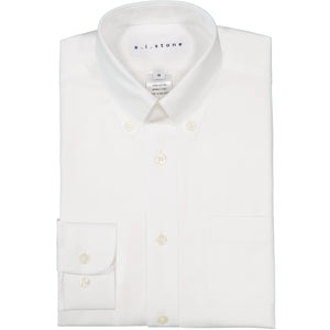 BOYS BUTTON COLLAR WHITE SHIRT