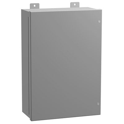 1418J Series - Painted Mild Steel Enclosures with Continuously Hinged Screw Cover - Includes Inner Mounting Panel image