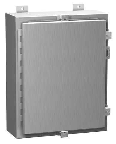 Hammond Type 4X Aluminum Wallmount Enclosure 1418 N4 AL Series  Continuous Hinge Door with Clamps image