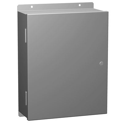 1420 Series - Painted Steel Enclosures with Removable Hinged Door and Quarter-Turn Latch - Includes Inner Mounting Panel image