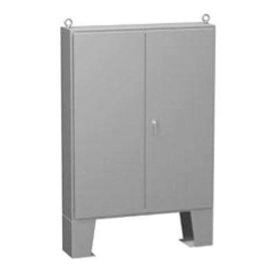 1422 FM Series - Painted Steel Double-Door Enclosures with 3-Point Latch and Floor-Mounting Feet - Includes Inner Mounting Panel image