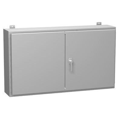 1422 Series - Painted Steel Wall-Mount Double-Door Enclosures with 3-Point Latch - Includes Inner Mounting Panel image