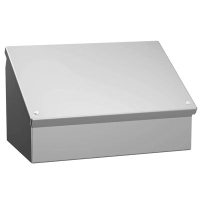 Hammond 1488 Series - Painted Steel Consolet Enclosures with Sloped Hinged Cover image