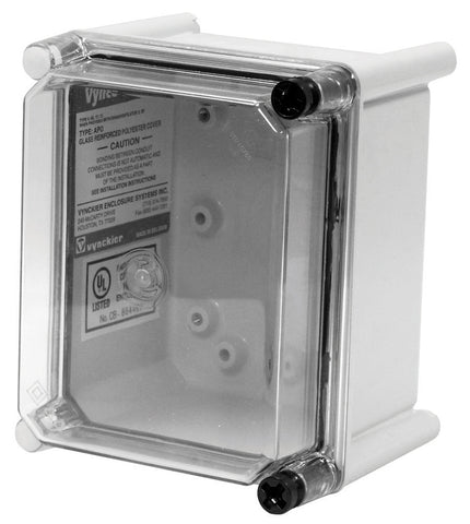 APO-CTH Series - Fiberglass Enclosures with Clear Screw Cover - Includes Hinge and Non-Metallic Screws image