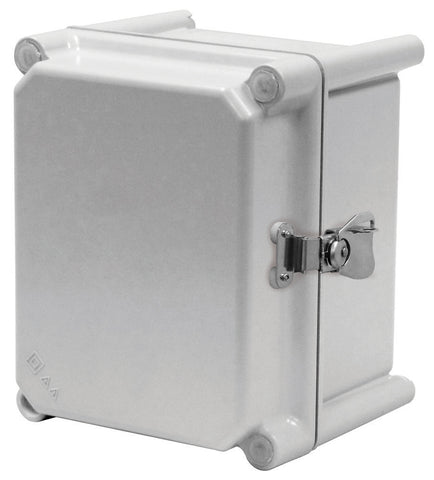 APO-HPL Series - Fiberglass Enclosures with Hinged Cover and Stainless Steel Padlockable Twist Latch image