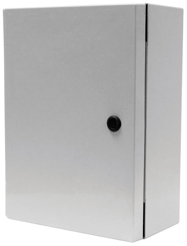 ARIA-AN Series - Fiberglass Enclosures with Hinged Cover and Slotted Quarter-Turn Handle (Internal 3-Point Latching Mechanism) image