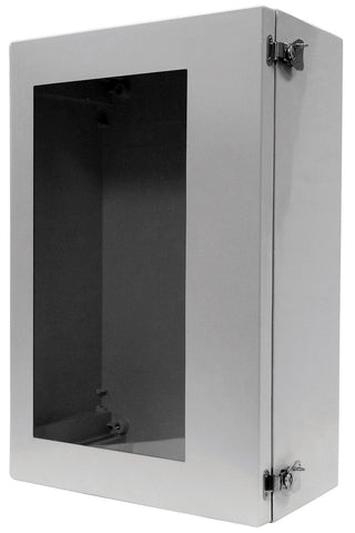 ARIA-ANBPL Series - Fiberglass Enclosures with Hinged Cover and Bonded Window - Includes Stainless Steel Padlockable Twist Latches image