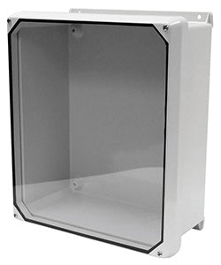 CVJ-HWPL Series - Fiberglass Enclosures with Clear Lexan Cover - Includes Stainless Steel Continuous Hinge and Stainless Steel Padlockable Cover Latches image