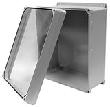 CVJ-W Series - Fiberglass Enclosures with Clear Lexan Lift-Off Cover (no hinge) and Stainless Steel Cover Screws