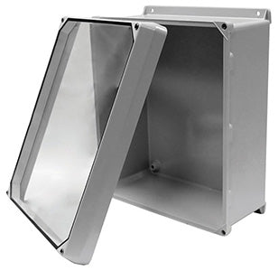 CVJ-W Series - Fiberglass Enclosures with Clear Lexan Lift-Off Cover (no hinge) and Stainless Steel Cover Screws image