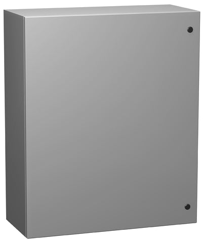Eclipse Series - Painted Mild Steel Enclosures with Concealed Hinge and Quarter-Turn Latch ANSI 61 Gray
