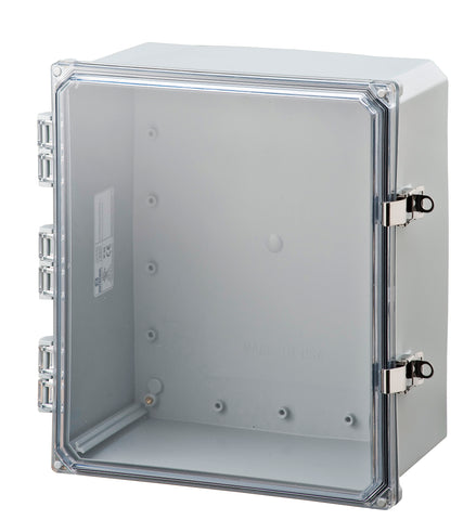 ELITE-HCFLL Series - Polycarbonate Enclosures with Clear Hinged Cover, Locking Latch, and Mounting Flange image