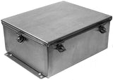 JN4XSS Series - 304 Stainless Steel Enclosure with Lift-Off Clamped Cover (No Hinge)
