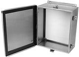 JN4XHSS6 Series - 316L Stainless Steel Enclosure with Continuous Hinge and Clamped-Cover