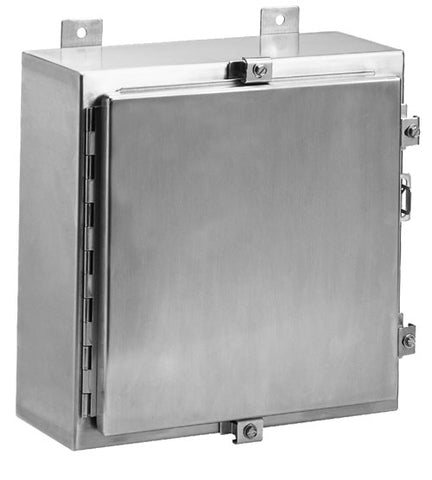 N4X6 Series - 316L Stainless Steel Enclosures with Continuous Hinge and Clamped-Cover