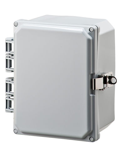 ELITE-HLL Series - Polycarbonate Enclosures with Opaque Hinged Cover, Locking Latch, and Mounting Feet