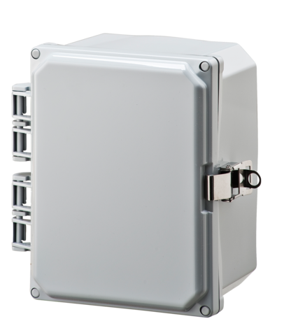 ELITE-HLL Series - Polycarbonate Enclosures with Opaque Hinged Cover, Locking Latch, and FLANGES image
