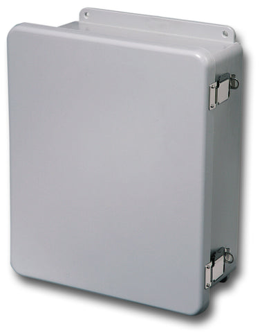 N4X-FG-CHQR Series - Fiberglass Enclosures with Hinged Cover and Quick Release Latch