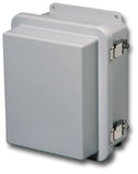 N4X-FG-RCHQR Series - Fiberglass Enclosures with Raised Hinged Cover and Quick Release Latch