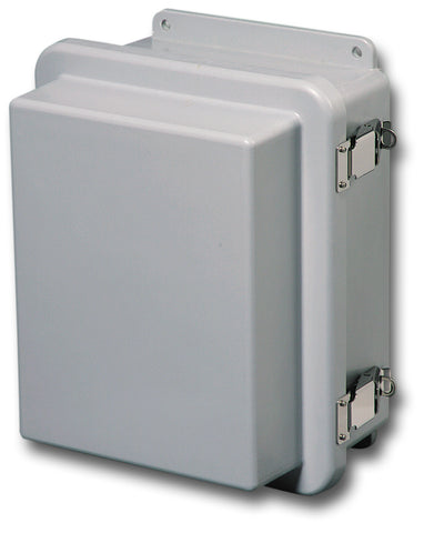N4X-FG-RCHQR Series - Fiberglass Enclosures with Raised Hinged Cover and Quick Release Latch image