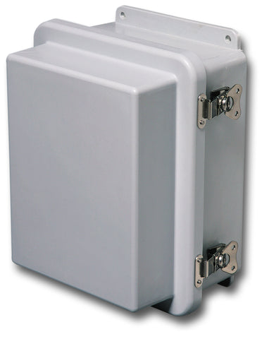 N4X-FG-RCHTL Series - Fiberglass Enclosures with Raised Hinged Cover and Twist Latch image