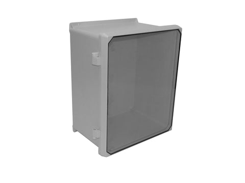 CVJ-NHWLL Series - Fiberglass Enclosures with Clear Lexan Cover - Includes Non-Metallic Hinges and Stainless Steel Twist-Latches image
