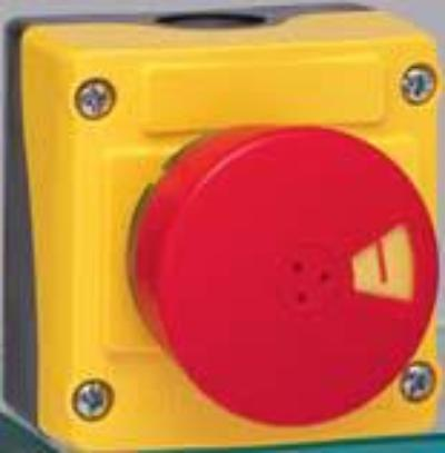 Non-Illuminated Mushroom Head E-Stop Push-pull to reset with flag indicator (Compliant with the requirements of emergency stop: ISO 13850 Double position indicator: head and collar) image