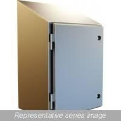 Waterfall Series Enclosure With Sloped Top and Quarter Turns IP69K Rated
