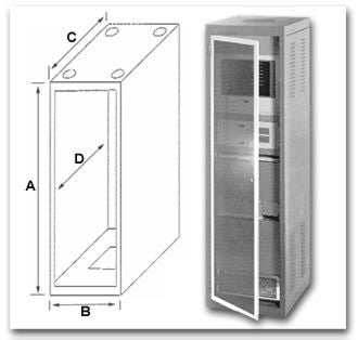 Bud Industries Large Cabinet Racks - Turn Key Cabinet Assemblies
