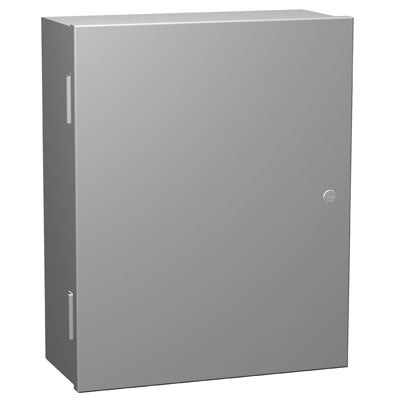 N1A Series - Painted Steel Enclosures with Hinged Cover and Quarter-Turn Latch - Includes Inner Mounting Panel