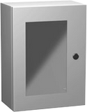 Eclipse Series - Painted Steel Enclosures with Polycarbonate Window - Includes Concealed Hinge and Quarter-Turn Latch