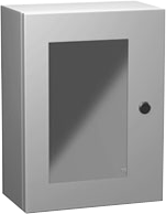 Eclipse Series - Painted Steel Enclosures with Polycarbonate Window - Includes Concealed Hinge and Quarter-Turn Latch image