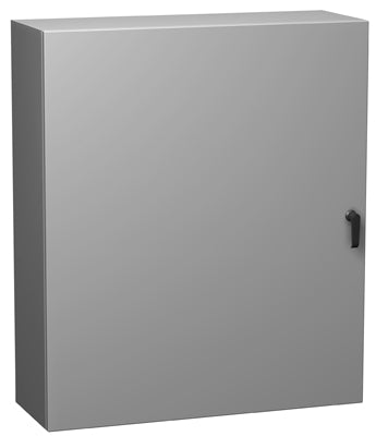 Hammond Eclipse Series -Type 4 Mild Steel,  Painted Steel Wallmount Enclosures with Hinge Door and Quarter Turn/Handle Light Gray image